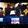 Miachel Bay drabbas av teknikstrul och blackout under en presentation. Bild från Bloomberg.