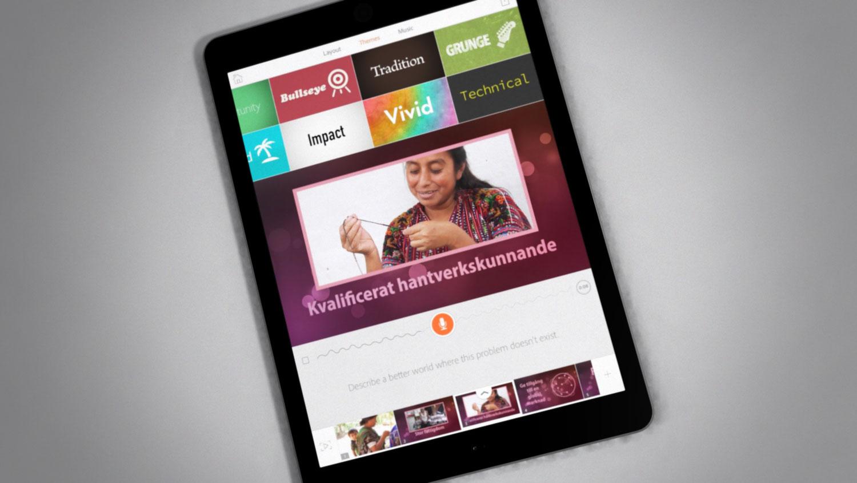 iPad Air med Adobe Voice