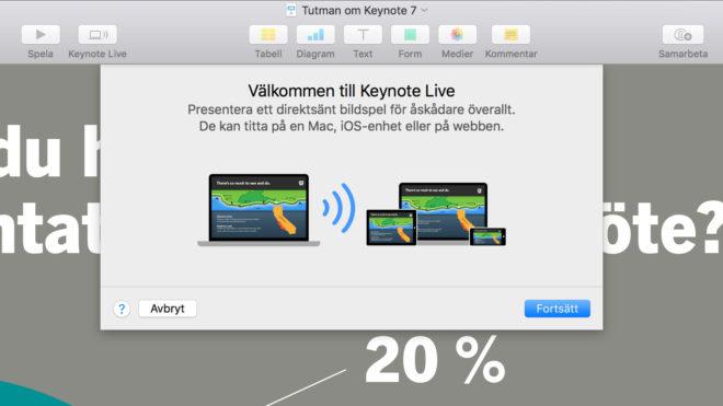 Keynote Live - nytt sätt att visa sin presentation