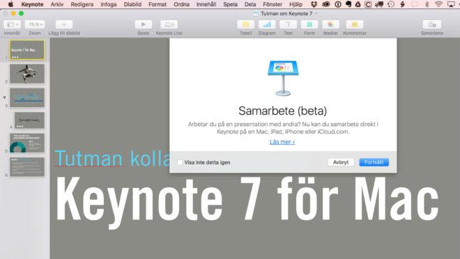 Nyheterna i senaste Keynote för Mac, presentationsprogrammet som proffsen älskar.