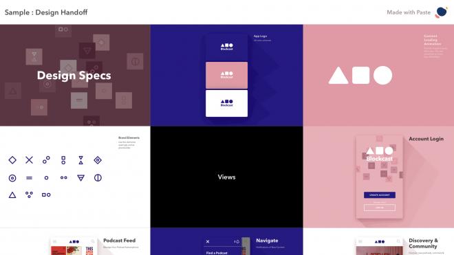 App för presentationer: Paste