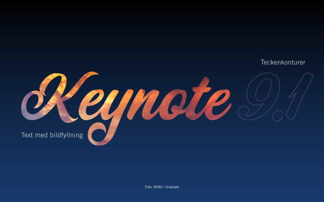 Vad är nytt i Keynote 9.1?